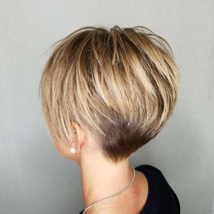 Latest Razored Haircuts With Precise Nape And Sideburns With Idée Tendance Coupe & Coiffure Femme 2017/ 2018 : : Pixie With Long (View 8 of 15)