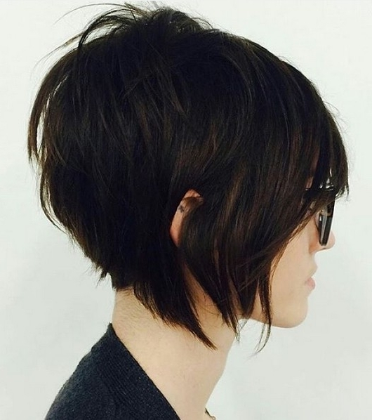 Latest Stacked Pixie Bob Haircuts With Long Bangs Throughout 20 Hottest Short Stacked Haircuts – The Full Stack You Should Not (View 14 of 15)