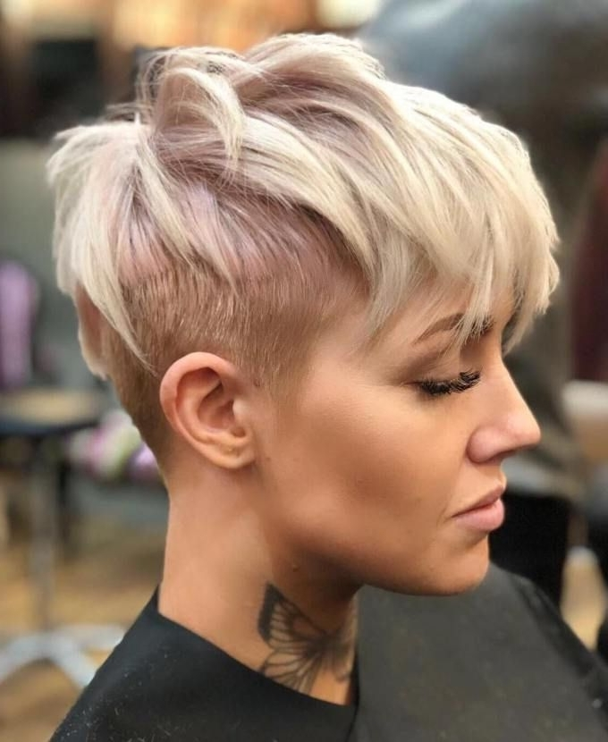 Latest Uneven Undercut Pixie Haircuts Inside 60 Overwhelming Ideas For Short Choppy Haircuts (View 6 of 15)