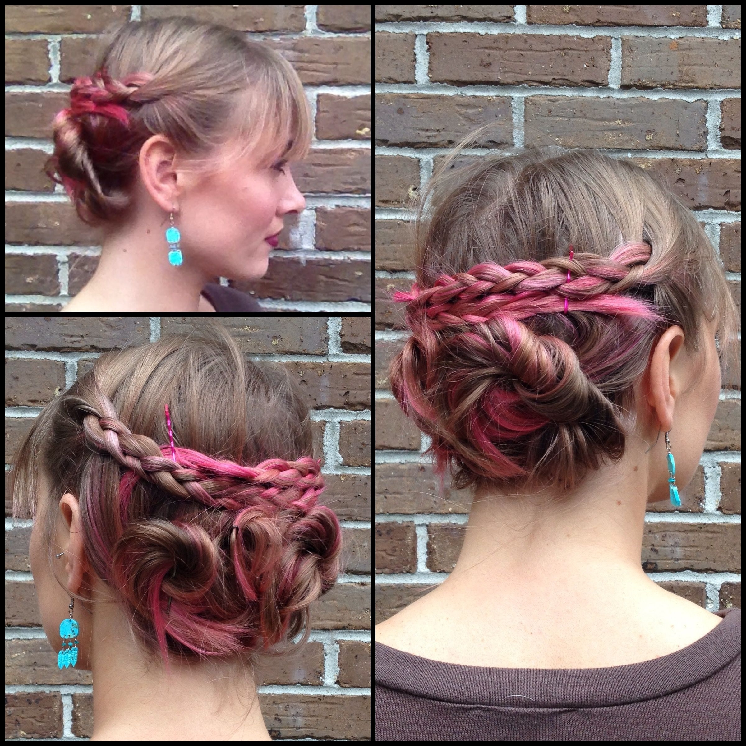 Latest Updo With Forward Braided Bun Inside A Fun & Quick Diy Updo (Great For Medium/short Hair) (View 6 of 15)