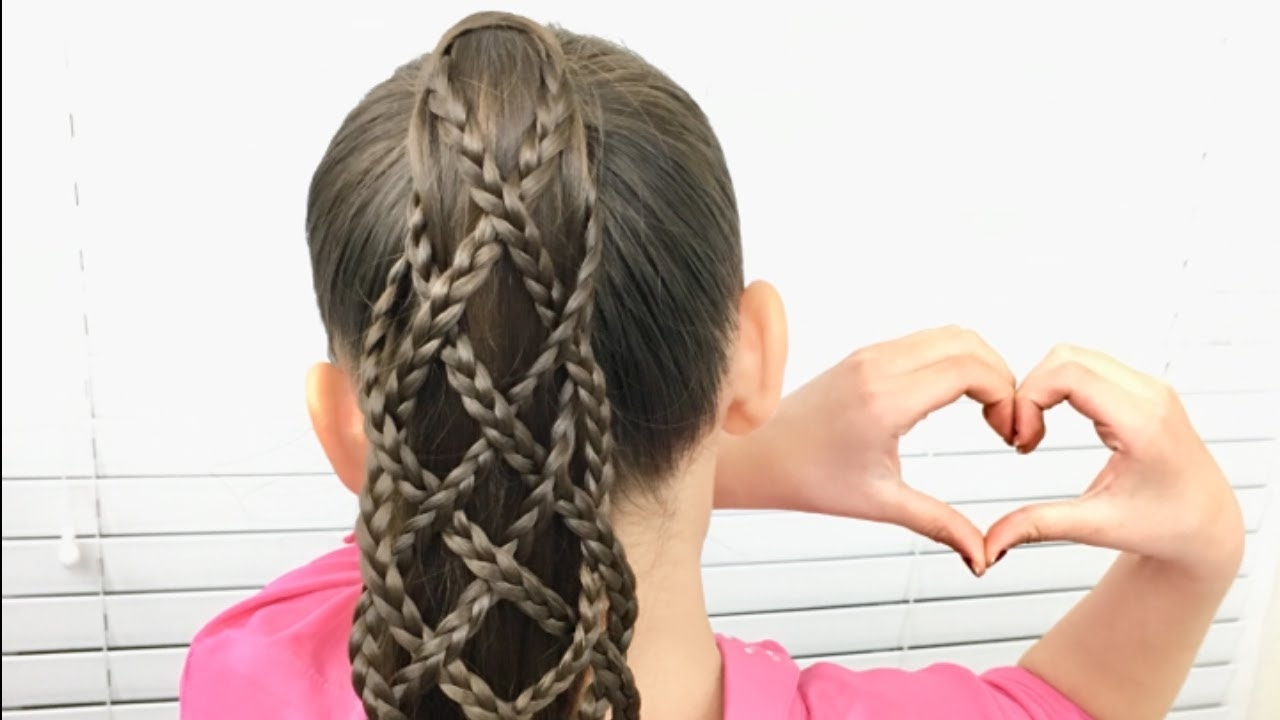 Featured Photo of Lattice Weave With High Braided Ponytail