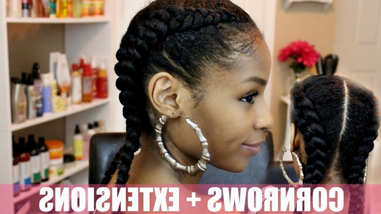 Layered For Widely Used Cornrows Hairstyles With Extensions (View 15 of 15)