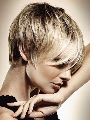 Layered Pixie Haircut: Straight Short Hair – Popular Haircuts With Regard To Most Up To Date Blonde Pixie Haircuts With Short Angled Layers (View 10 of 15)