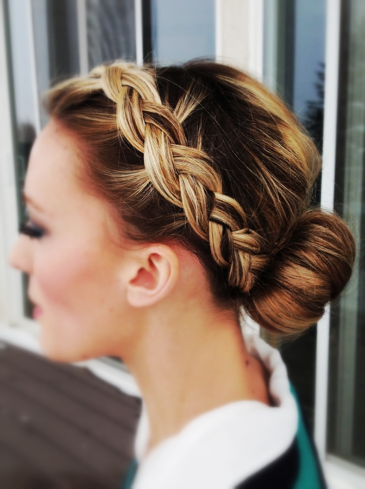 Let's Get Pretty Again: Front Braid To Sock Bun With Trendy Two French Braid Hairstyles With A Sock Bun (View 13 of 15)