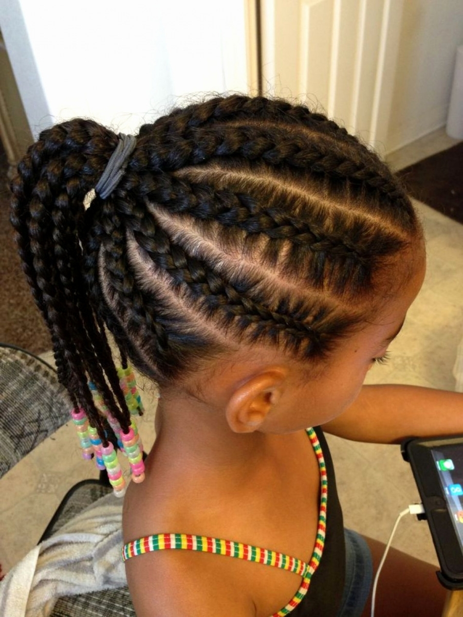 Little Girl Cornrow Styles Awesome Quick Hairstyles For Cornrow In Widely Used Cornrows Hairstyles For Little Girl (View 10 of 15)