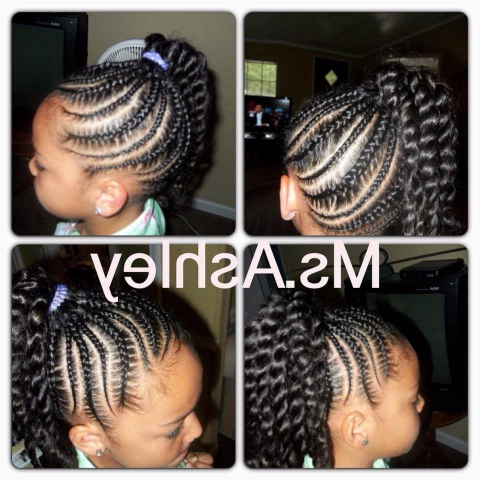 Little Girl Cornrow/twist Ponytail Hairstyle (View 8 of 15)