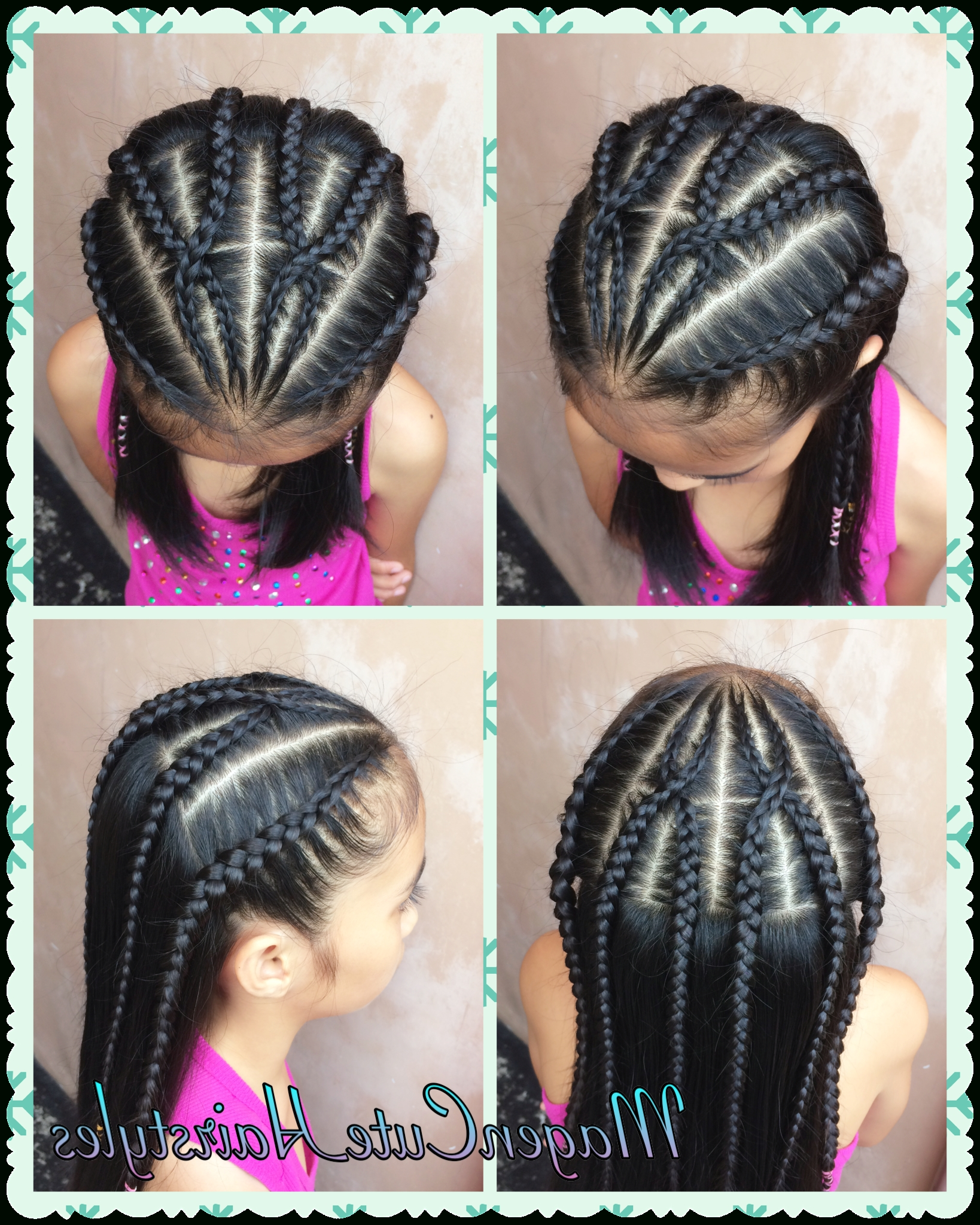 Magencutehairstyles:d With Regard To Newest Mohawk With Criss Crossed Braids (View 7 of 15)