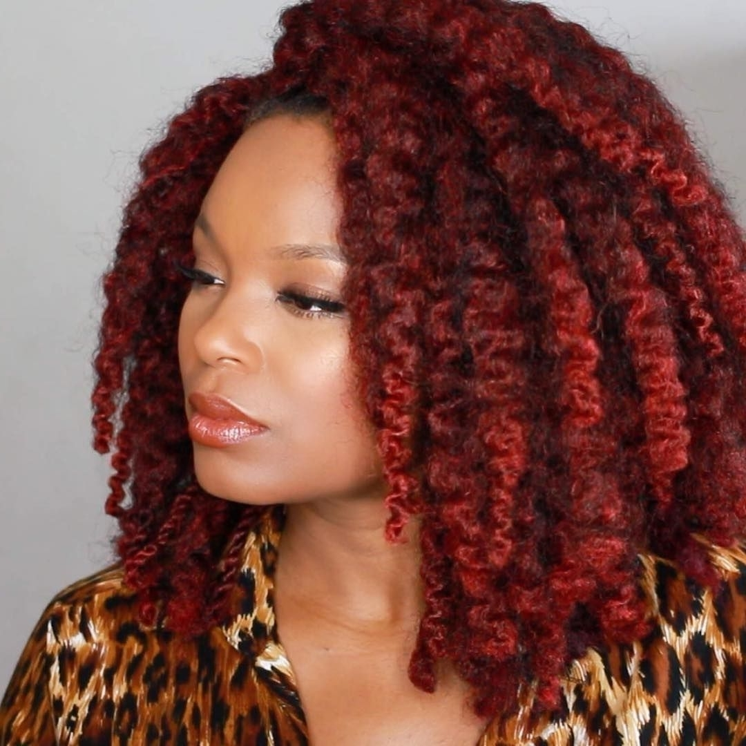 Maroon Locs And Braids (View 11 of 15)