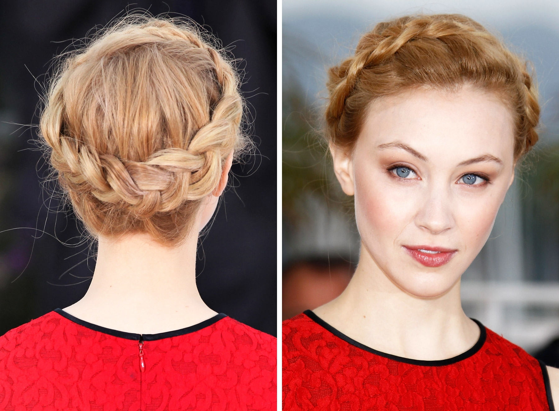 Medium Hair Pertaining To Well Known Milkmaid Braids Hairstyles (View 8 of 15)