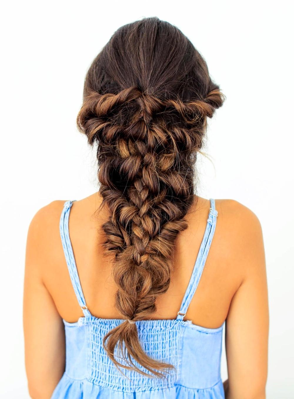 Mermaid Braid Tutorial – Luxy Hair Within 2017 Mermaid Braid Hairstyles (View 9 of 15)