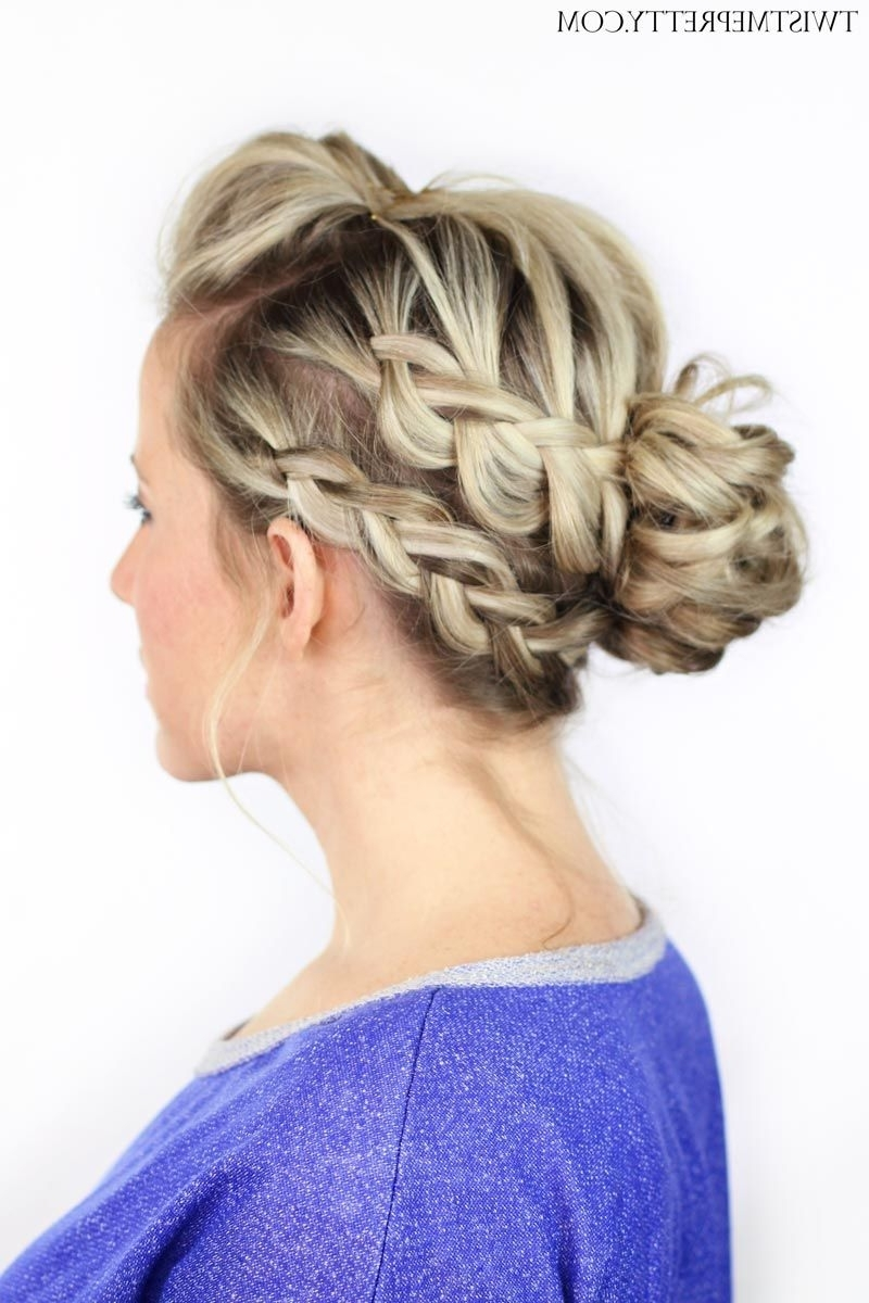Messy Buns, Bun Updo And Updo Within Best And Newest Double Braids Updo Hairstyles (View 9 of 15)