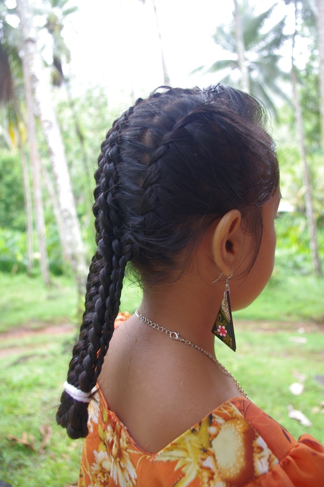 Micronesian Girl~ Basket Weave French Braids – Hairstyle Center Throughout Most Recent Lattice Weave With High Braided Ponytail (View 14 of 15)