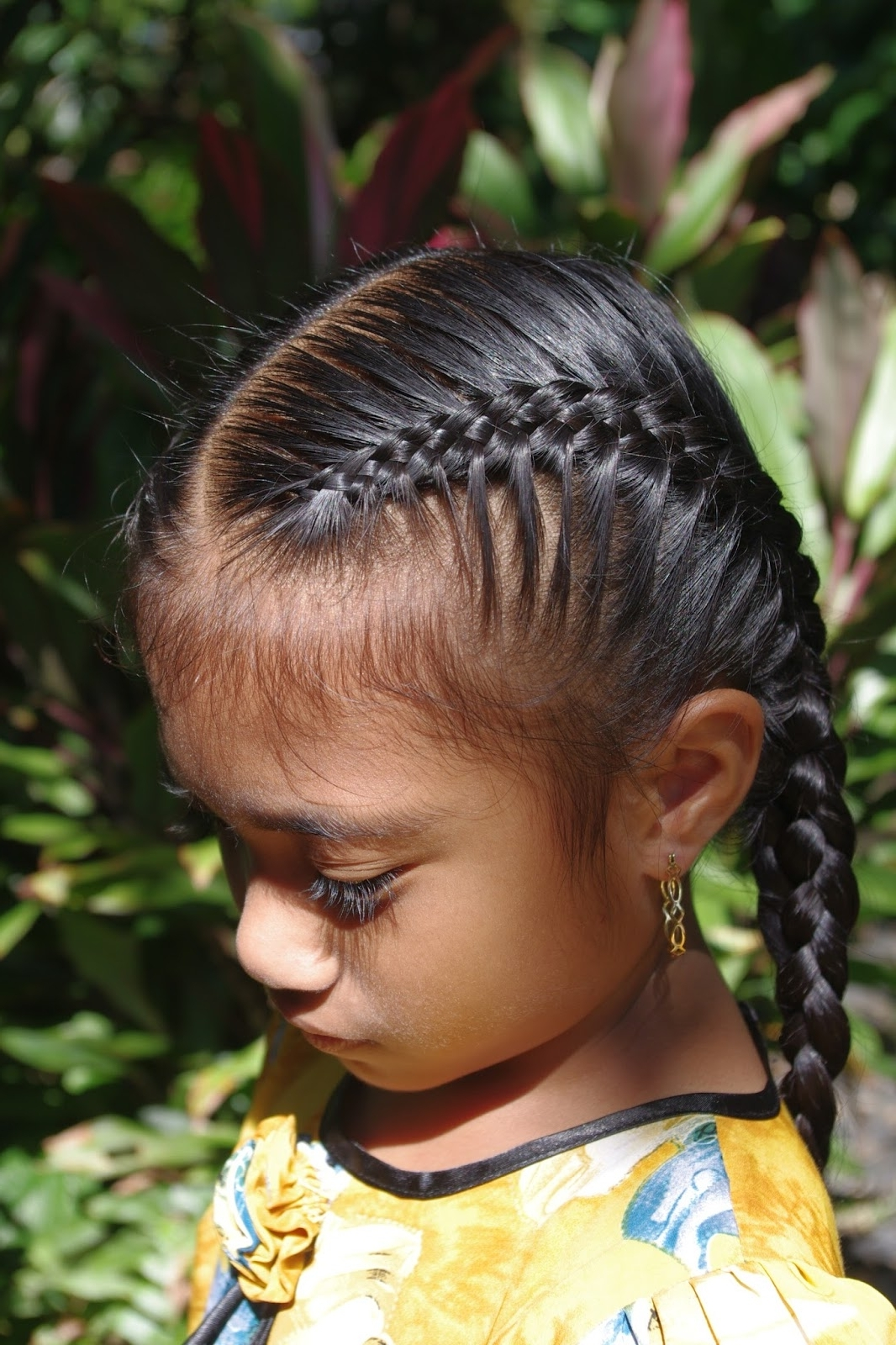 Micronesian Girl~ Double 4 Strand French Braids ~ New Hairstyles Today With Recent Side French Cornrow Hairstyles (View 6 of 15)