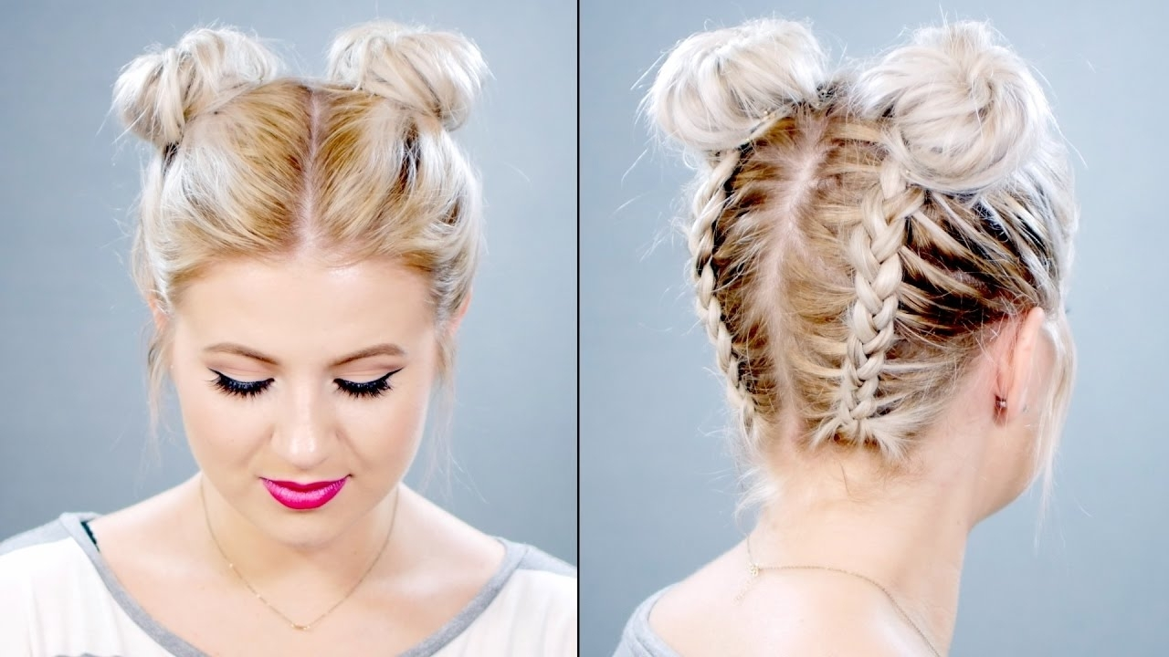 Featured Photo of Double Braids Updo Hairstyles