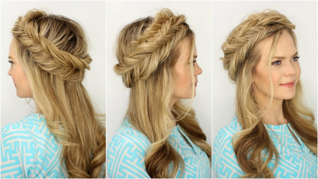 Missy Sue – Youtube For Most Recent French Braids Crown And Side Fishtail (View 10 of 15)