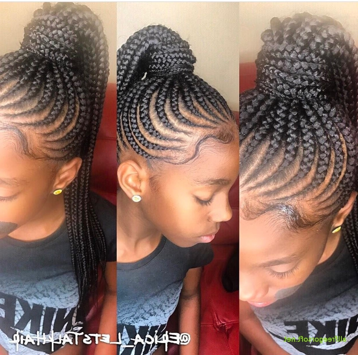 Modern Cornrow Hairstyles For Girls – Kids Clothes And Outfit For 2017 Cornrows Hairstyles For Ladies (View 12 of 15)