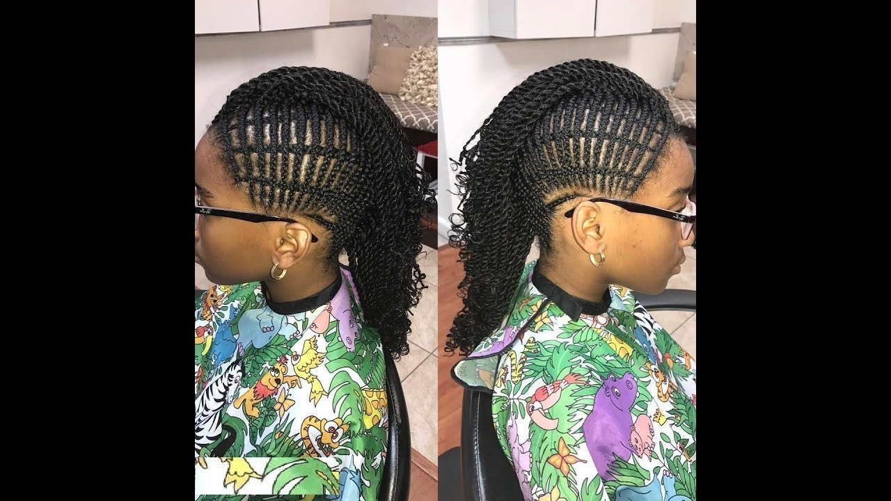 Mohawk Braids With Weave : Latest Hairstyles For All Ladies – Youtube Inside Most Recent Mohawk With Criss Crossed Braids (View 8 of 15)
