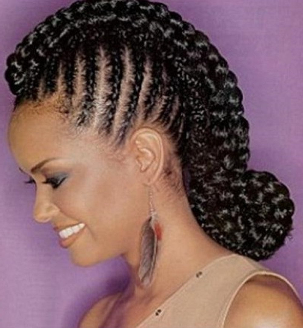 Most Current Black Braided Bun Hairstyles Inside African Hair Styles Braided Bun Hairstyles For Black Hair Adorable (View 11 of 15)