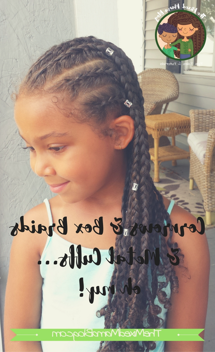 Most Current Classic Fulani Braids With Massive Ivory Beads With Regard To Beautiful Protective Style Using Cornrows, Box Braids, And Metal (View 12 of 15)
