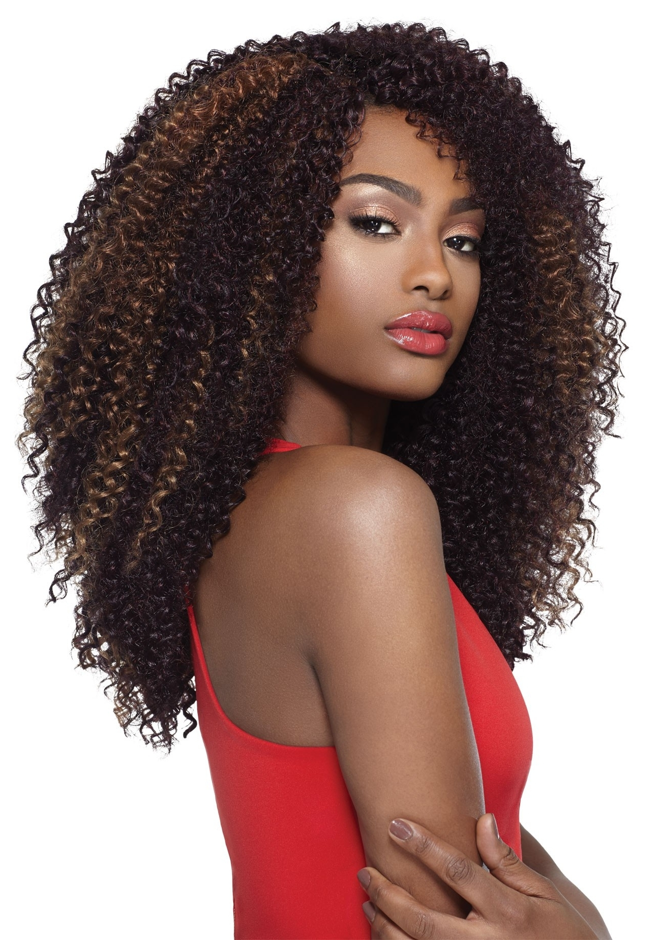 Most Current Curly Hairstyle With Crochet Braids Throughout Outre X Pression 4 In 1 Crochet Braid Kinky Curl 14 Inch (View 14 of 15)