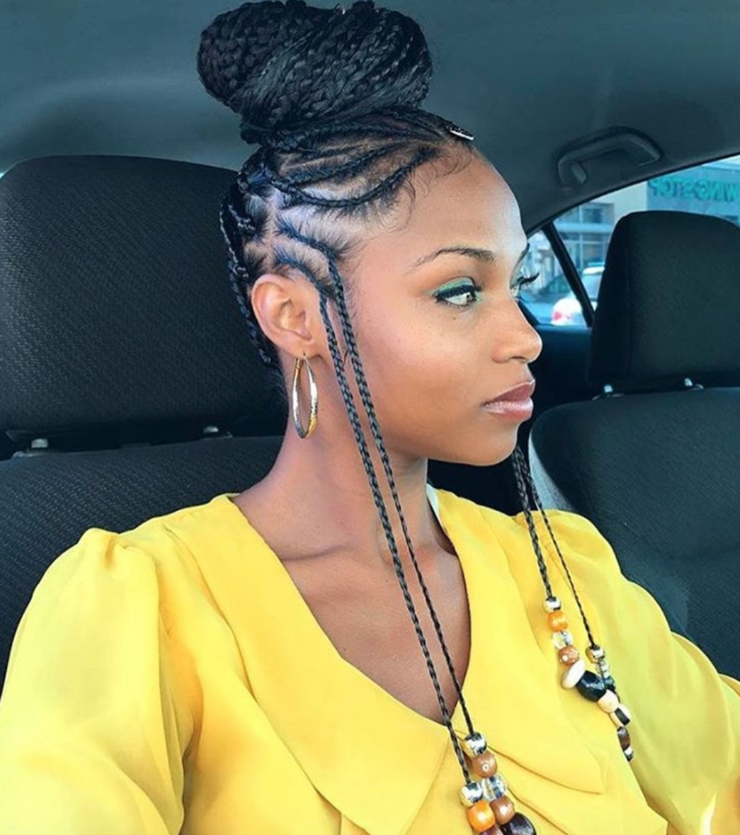 Most Current Cute Cornrows Hairstyles Pertaining To Cute Cornrow Hairstyles – Leymatson (View 9 of 15)