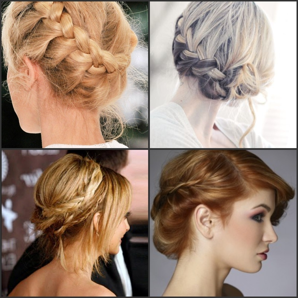Most Current Easy Casual Braided Updo Hairstyles Regarding 2018 Kim Kardashian Updo Hairstyles Casual Braided Bun (View 10 of 15)