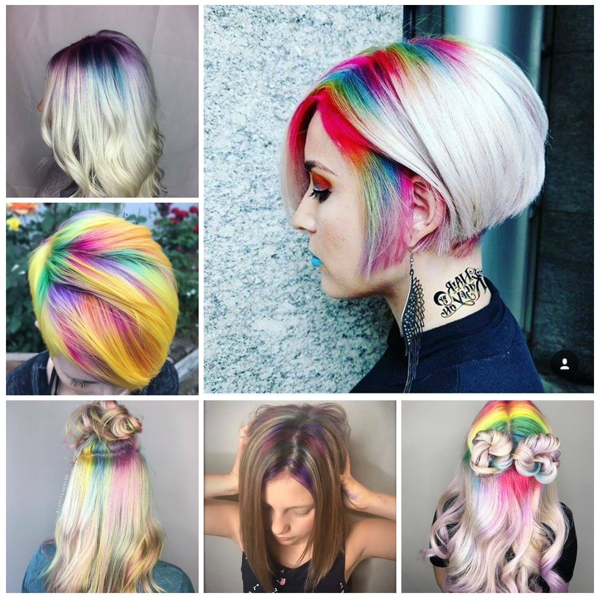 Most Current Extra Long Blue Rainbow Braids Hairstyles Inside 2018 Hair Color Ideas With Rainbow Roots – Best Hair Color Ideas (View 7 of 15)