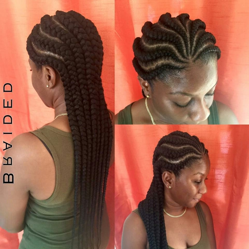 Most Current Jumbo Cornrows Hairstyles With Regard To Jumbo Braids Box Braids Pinterest Easy Of Side Cornrow Braid (View 8 of 15)