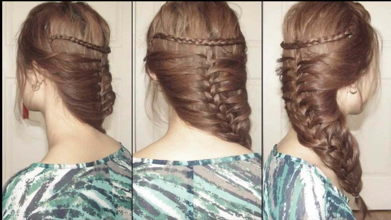 Most Current Mermaid Braid Hairstyles For Mermaid French Braided Hairstyle For Medium Long Hair – Youtube (View 9 of 15)
