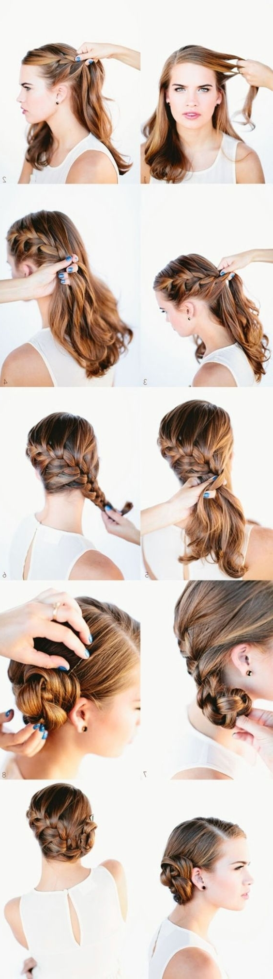 Most Current Pair Of Braids With Wrapped Ponytail Pertaining To 21 Tutorials For Styling Wrap Around Braids – Pretty Designs (View 9 of 15)