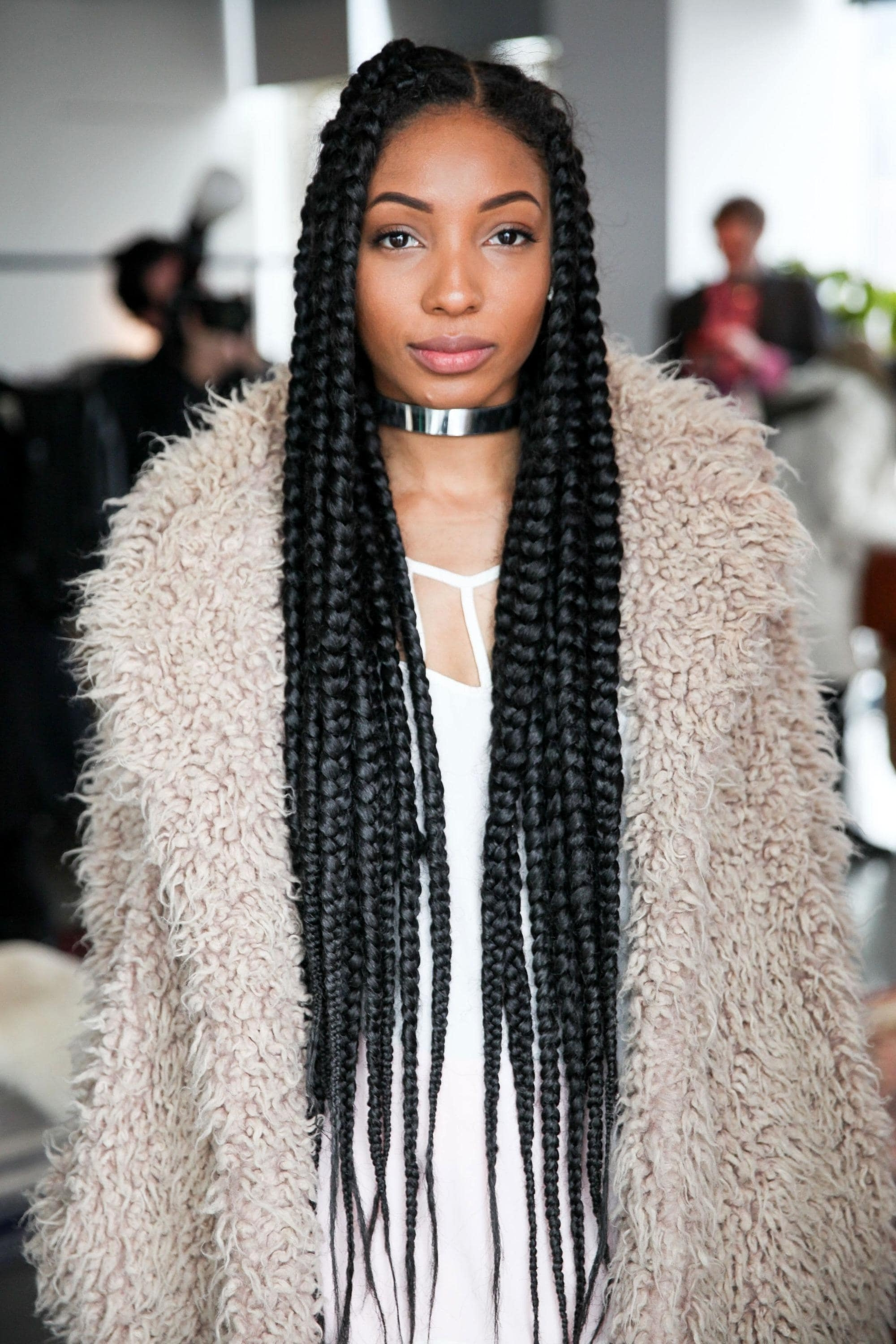 Most Current Super Long Dark Braids With Cuffs With Regard To Celebrities Rocking Poetic Braids: The Best A List Looks (View 3 of 15)
