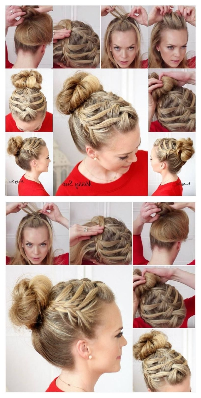 Most Current Triple The Braids Hairstyles For Triple French Braid Double Waterfall Hairstyle Tutorial Pictures (View 10 of 15)