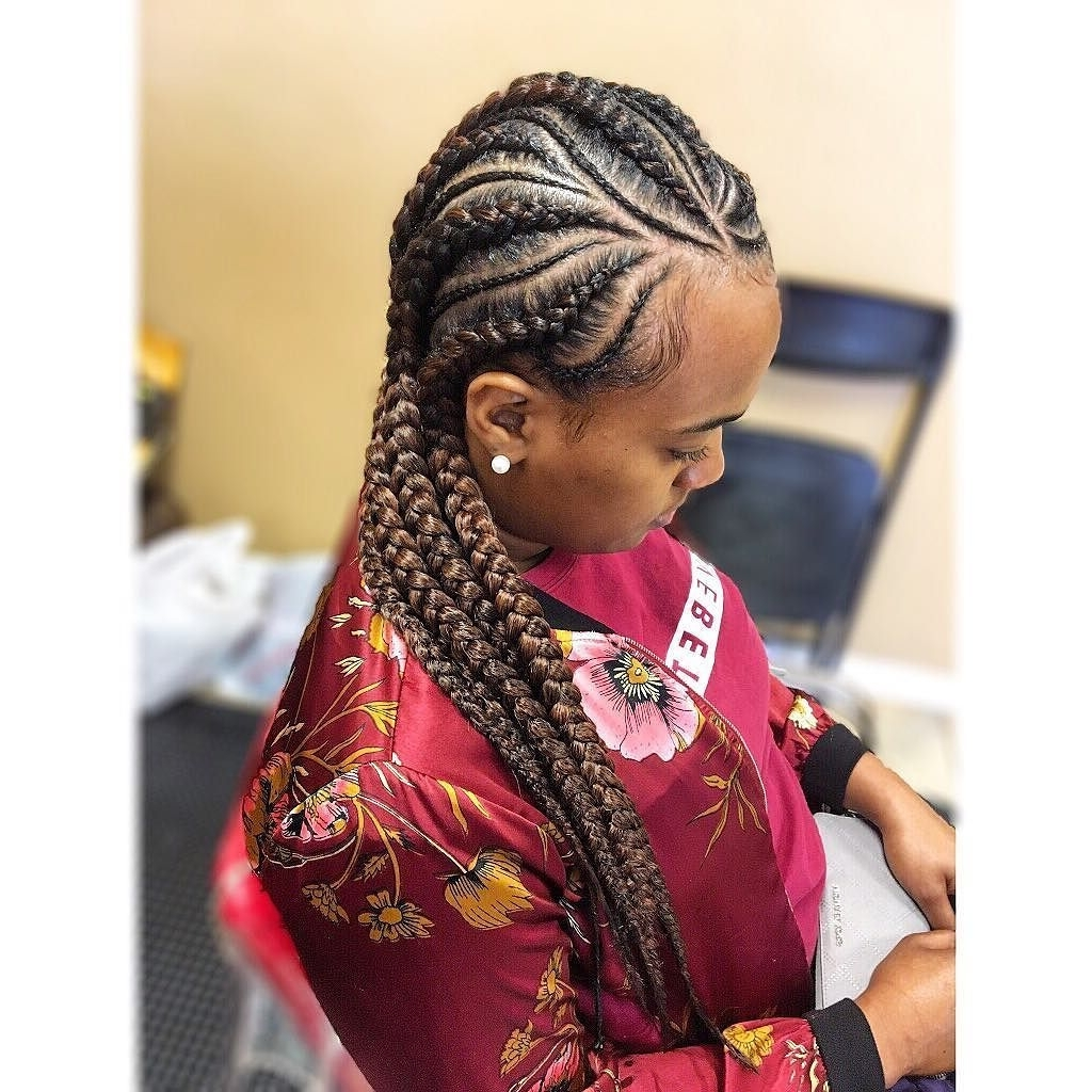 Most Popular Big Cornrows Hairstyles With Cool 30 Cornrow Hairstyles For Different Occasions – Get Your (View 12 of 15)