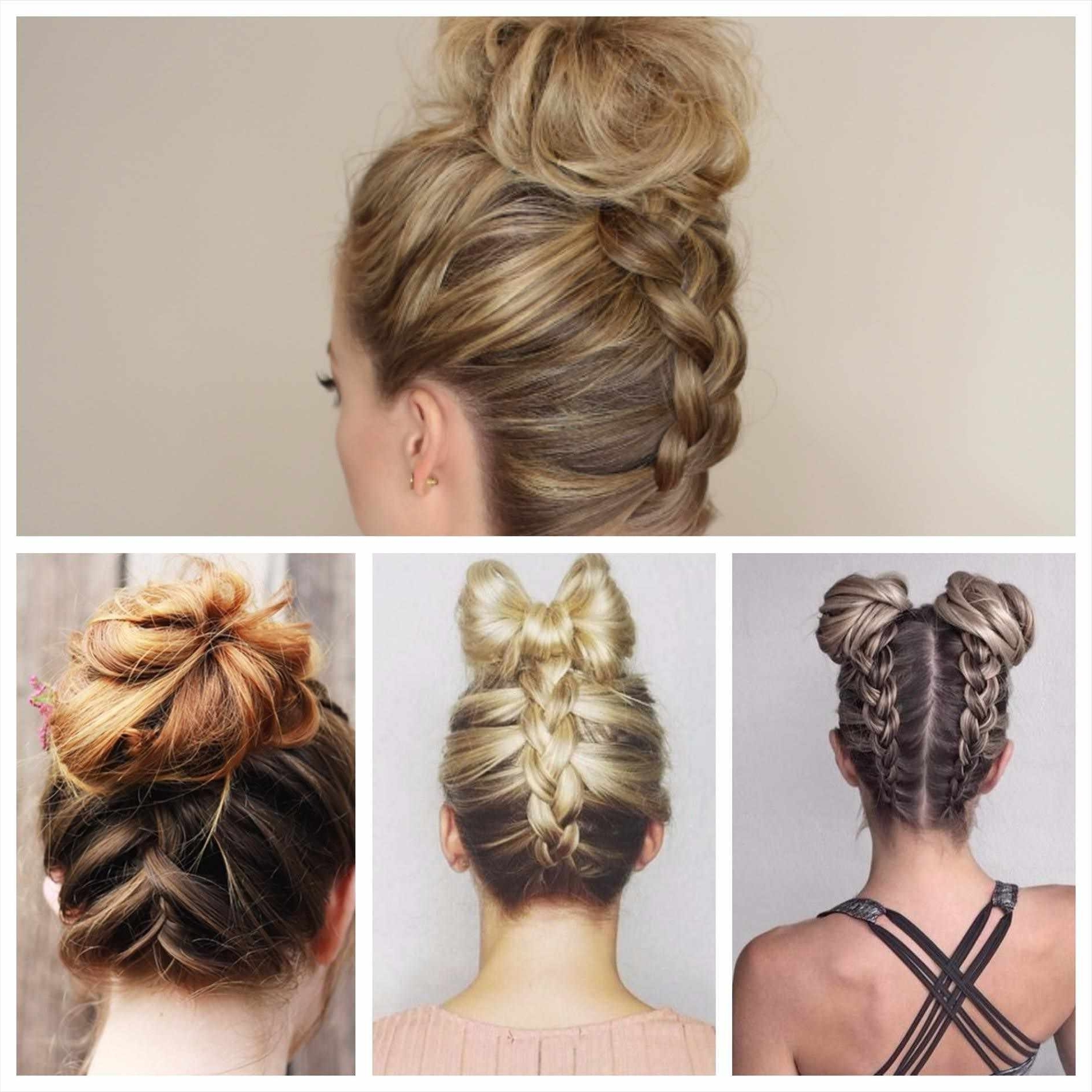Most Popular Braid Hairstyles To Messy Bun Intended For Best Ideas Of Messy Bun Braid Hairstyles Awesome Tuxedo Braid Messy (View 15 of 15)