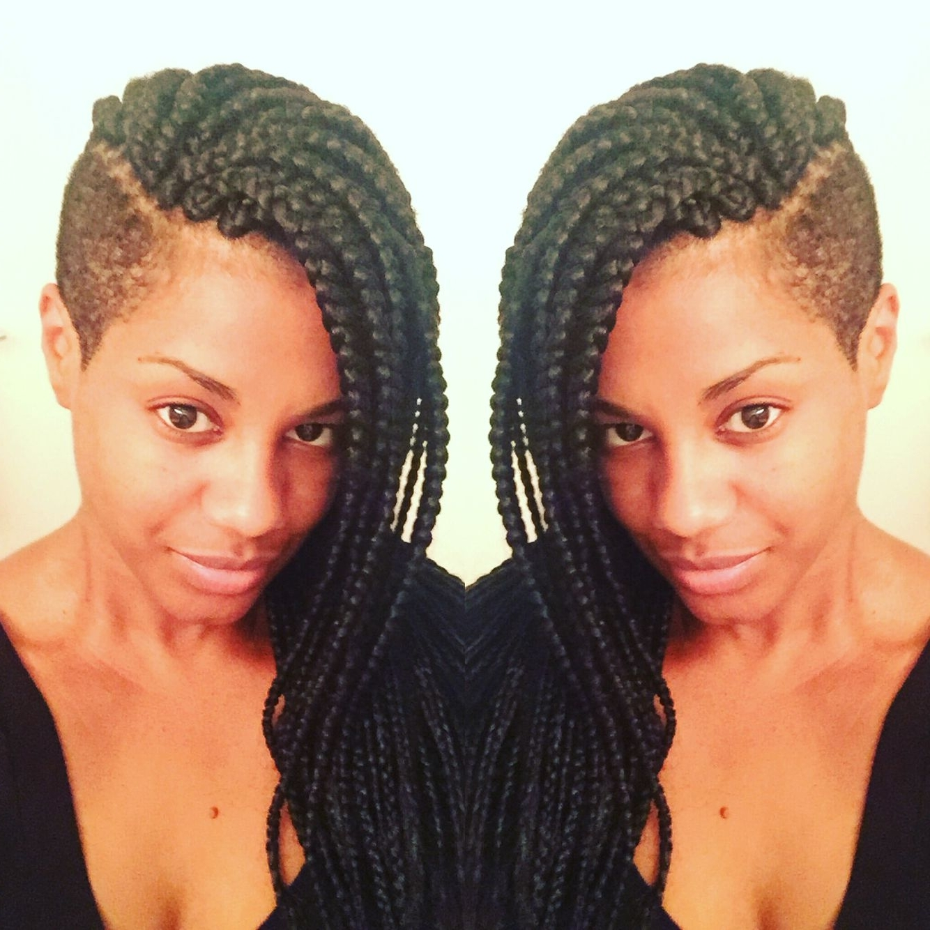 Most Popular Braided Hairstyles With Tapered Sides For Love My Hair With Tapered Sides! #braids #shaved Sides (View 11 of 15)
