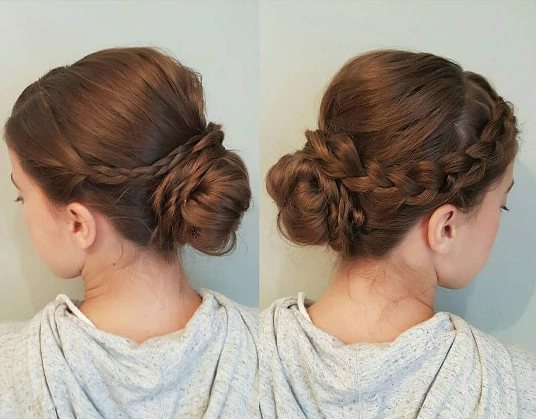 Most Popular Braided Updo With Curls Inside 100 Cute Hairstyles For Long Hair (2018 Trend Alert) (View 7 of 15)