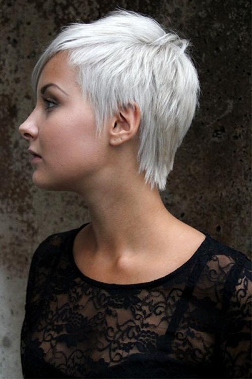 Most Popular Choppy Asymmetrical Black Pixie Haircuts Throughout Short, Pixie, Choppy, Platinum Hair (View 9 of 15)