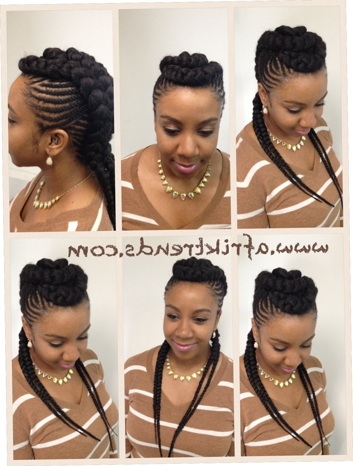 Most Popular Chunky Mohawk Braids Hairstyles In 19+ Cute Chunky Cornrow Hairstyles 2018 – Straightuphairstyle (View 8 of 15)