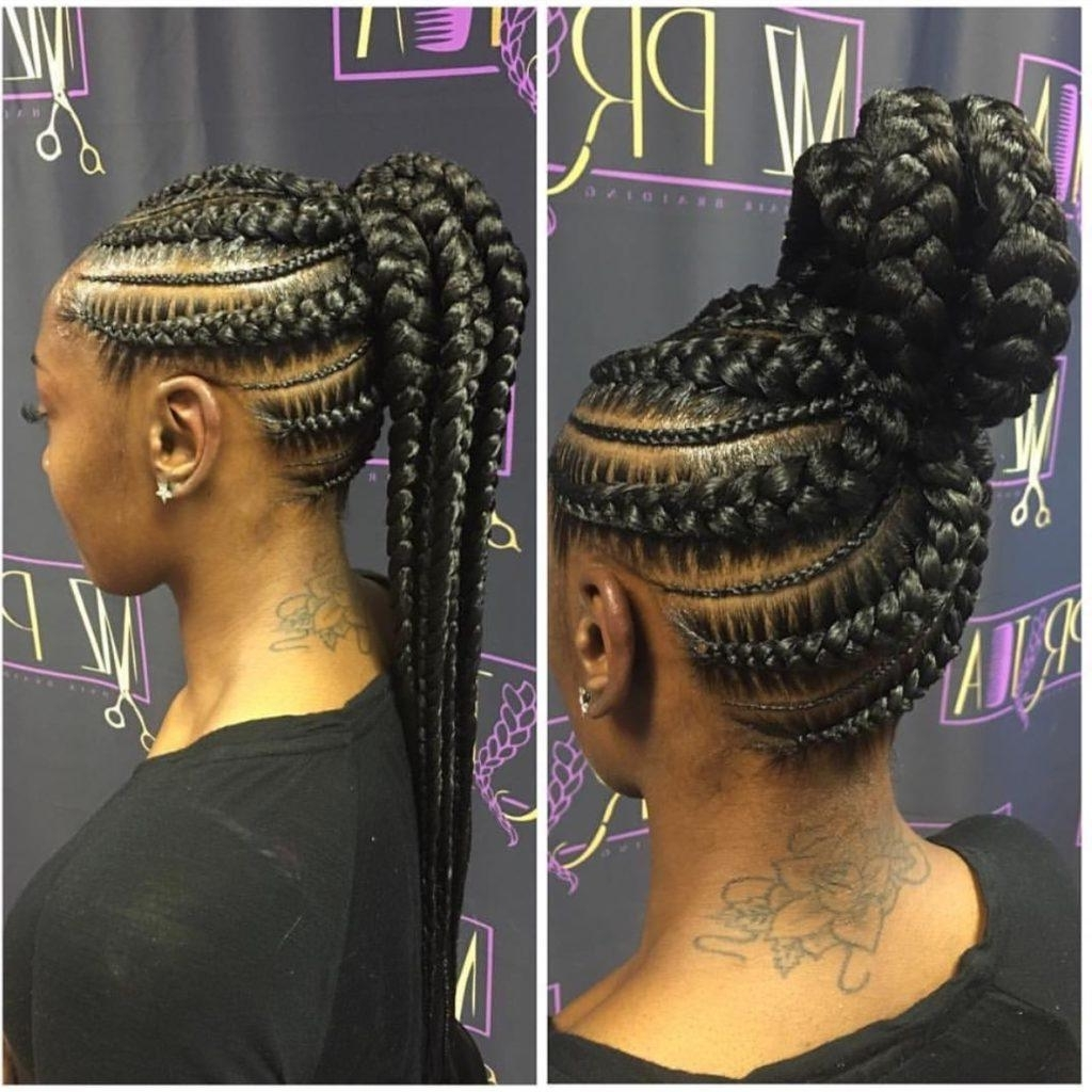 Most Popular Cornrow Hairstyles Up In One With Regard To Up Do Jumbo Cornrow Braids Are The New Hairstyle Sensation In Nairobi (View 9 of 15)