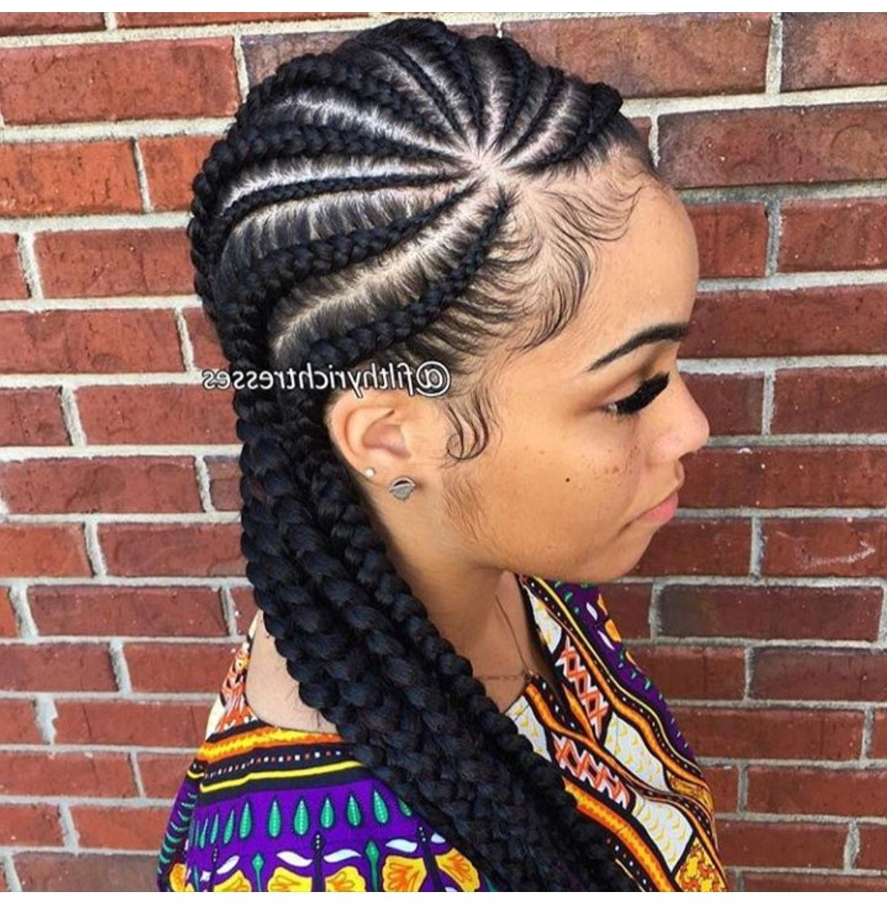 Most Popular Feed In Braids Hairstyles Intended For Pinjanelle Bourda On Hairstyles (View 10 of 15)