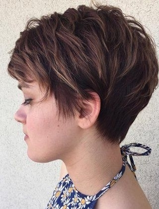 Most Popular Funky Blue Pixie With Layered Bangs Throughout 70 Short Shaggy, Spiky, Edgy Pixie Cuts And Hairstyles (View 10 of 15)