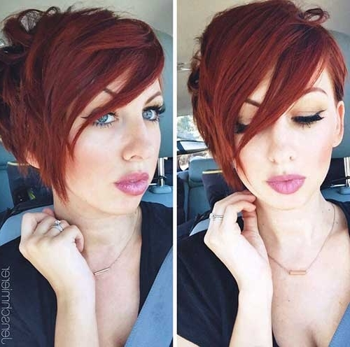 Most Popular Inside 2017 Long Red Pixie Haircuts (View 14 of 15)