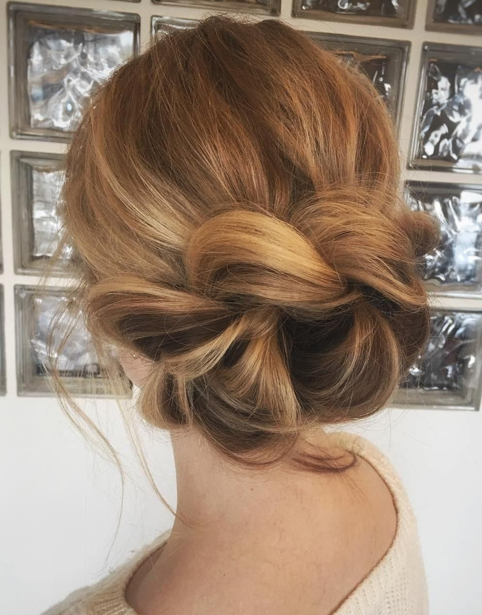 Most Popular Loosely Braided Hairstyles Pertaining To Loosely Braided Updo #thinninghair (View 11 of 15)