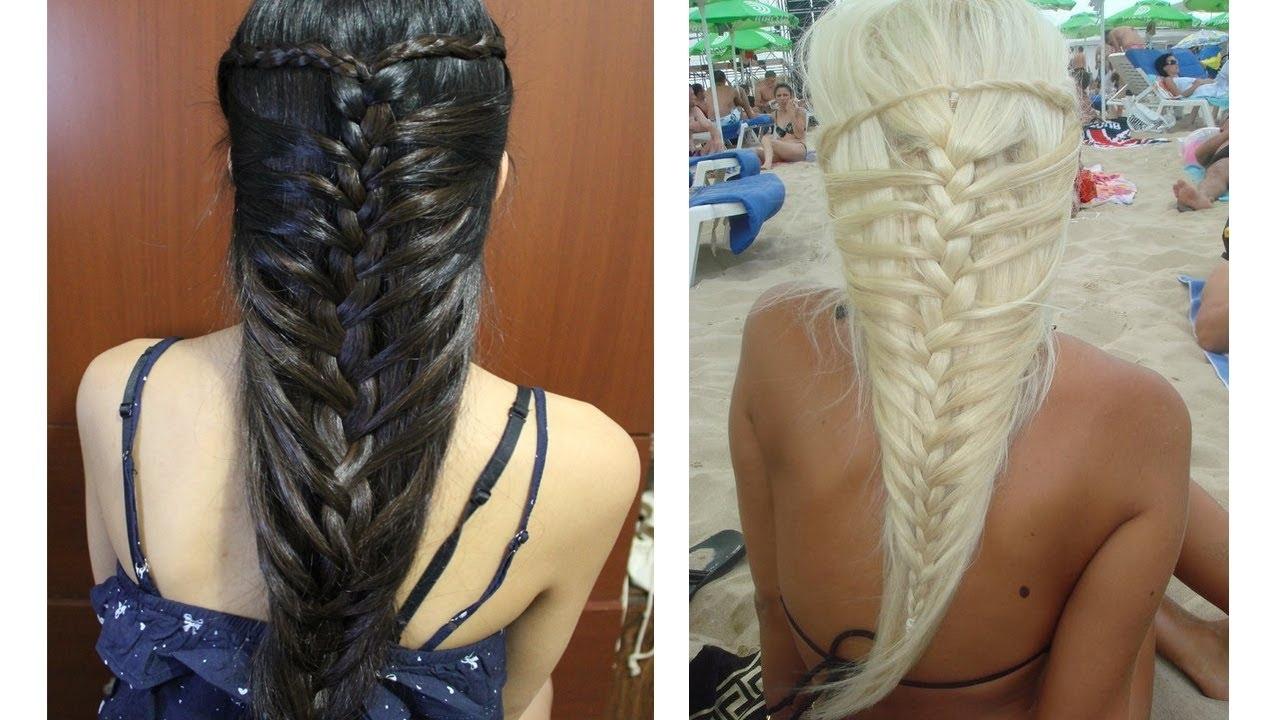 Most Popular Mermaid Braid Hairstyles With Regard To Mermaid French Braid Hairstyle For Medium Long Hair Tutorial – Hair (View 13 of 15)