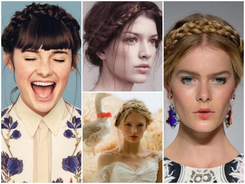 Most Popular Milkmaid Braids Hairstyles Within Stylenoted (View 7 of 15)