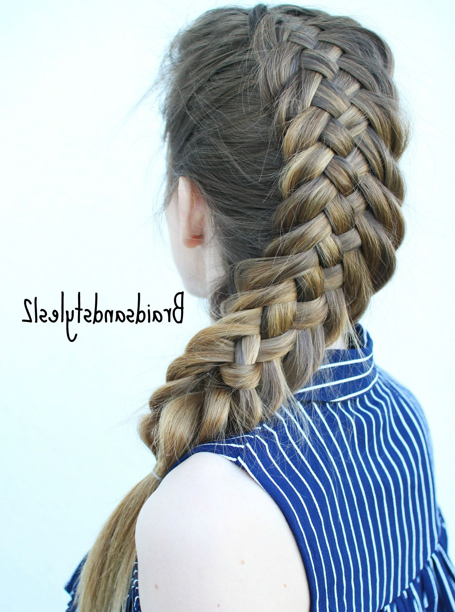 Most Popular Plaits Hairstyles Youtube Intended For Diy Woven Fishtail Braidbraidsandstyles (View 6 of 15)