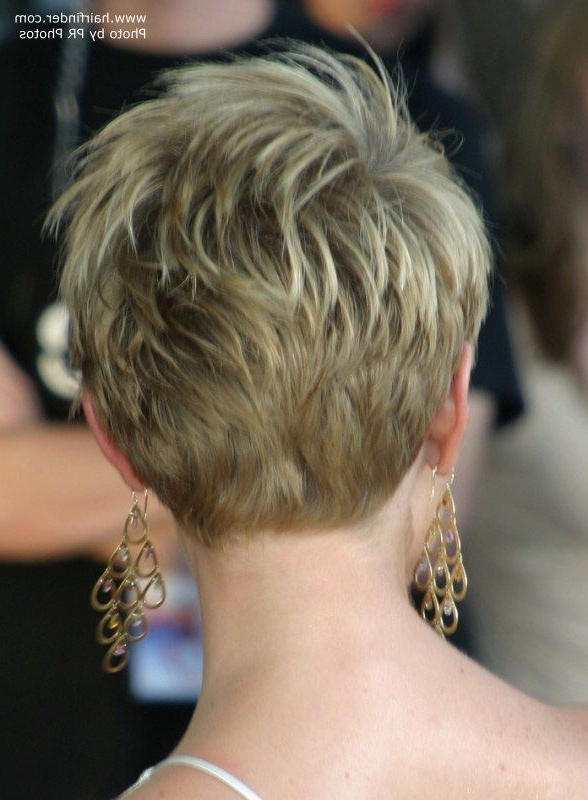Most Popular Razored Haircuts With Precise Nape And Sideburns Within Pixie Haircut Rear View (View 10 of 15)