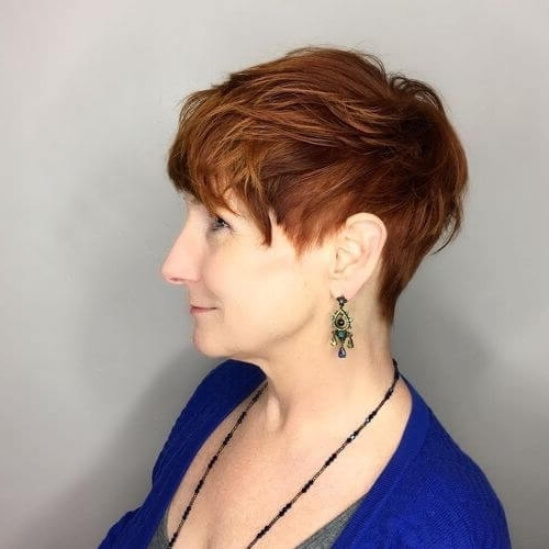 Most Popular Sassy Undercut Pixie With Bangs In The Short Pixie Cut – 39 Great Haircuts You'll See For  (View 10 of 15)