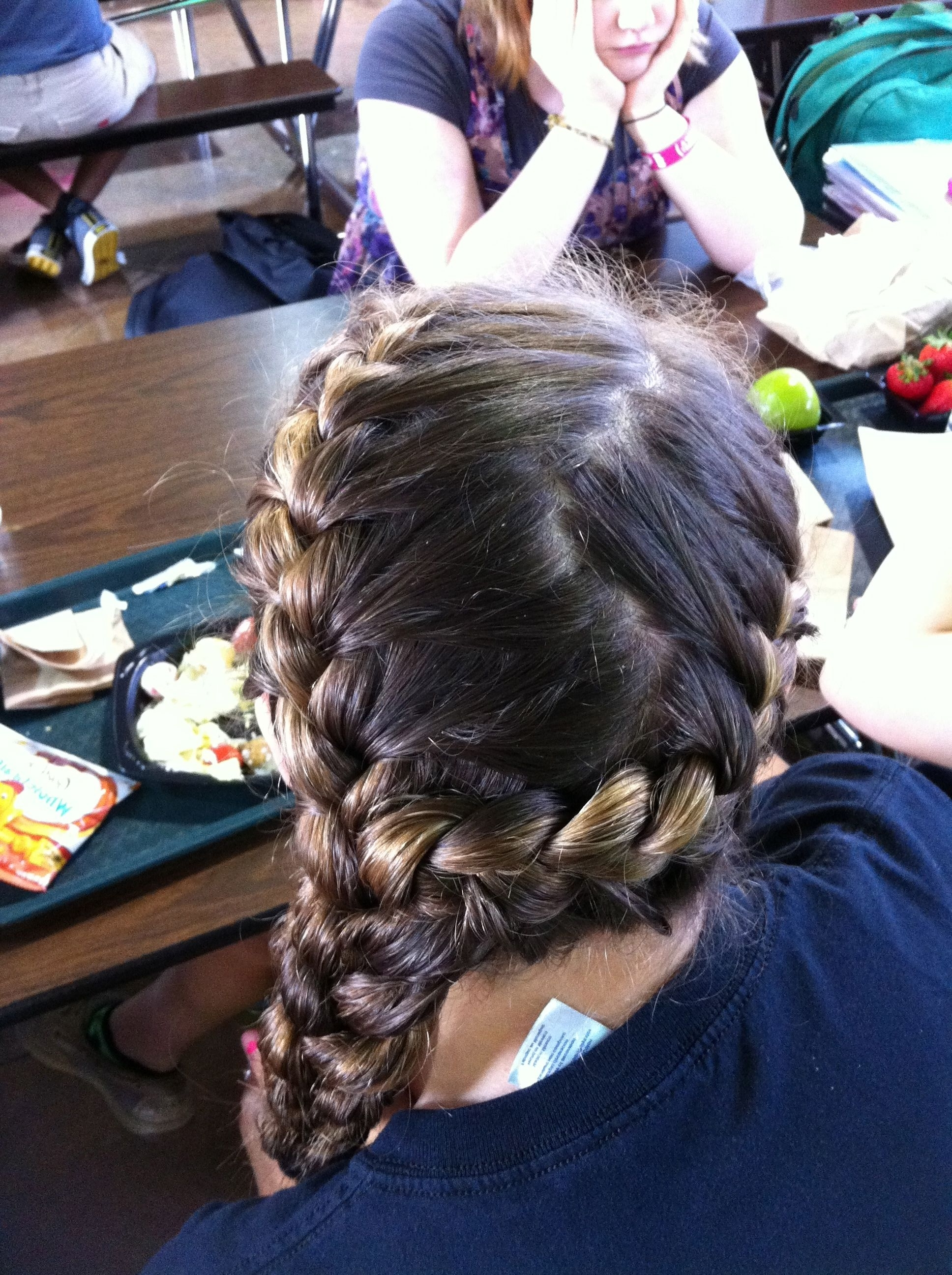 Most Popular Two Braids Into One Pertaining To Two French Braids Into One Side French Braid: Great For Soccer Girls (View 7 of 15)