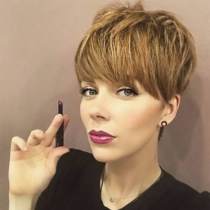Most Popular Uneven Undercut Pixie Haircuts In 70 Best Pixie Cuts For 2018 In Trend Now (View 7 of 15)